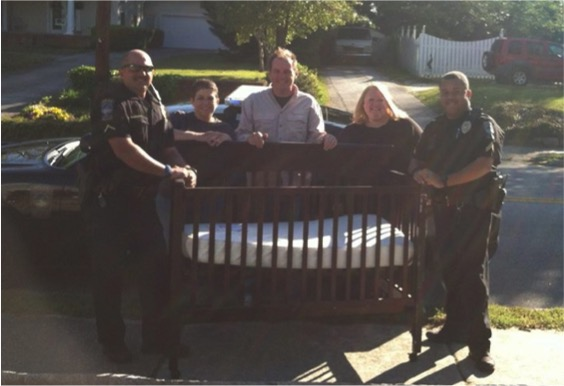 everything inspirational divine intervention lead police to baby crib at yard sale 2