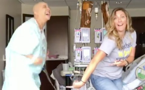 inspirational cancer patient dance - viral video