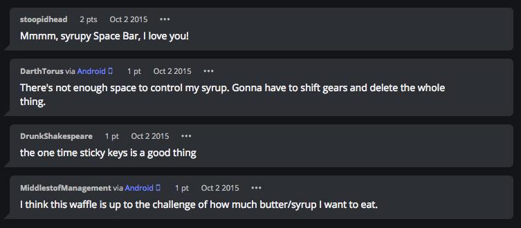 imgur keyboard waffle iron comments