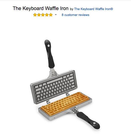 amazon product keyboard waffle iron