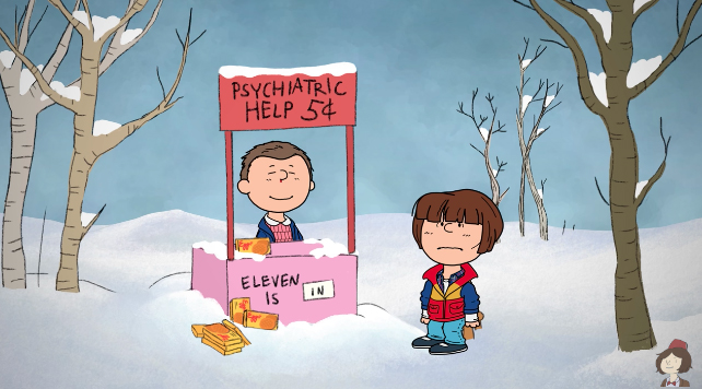 stranger things netflix charlie brown peanuts special