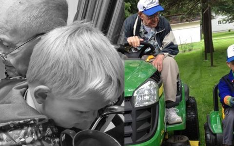 emmett and erling final goodbye 91-year-old friend