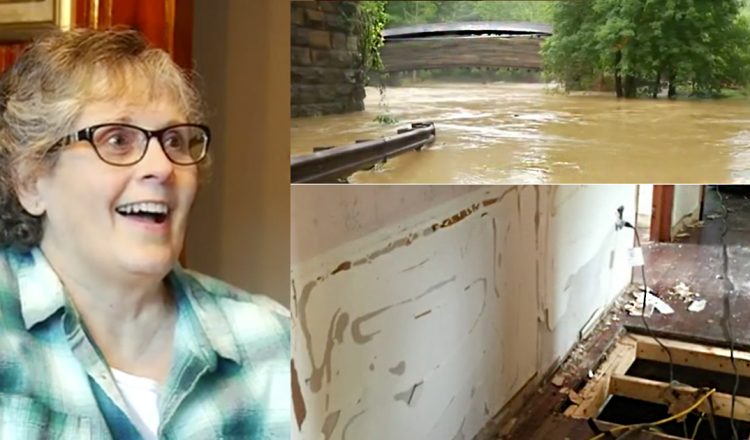 flood victim helped by stranger at church