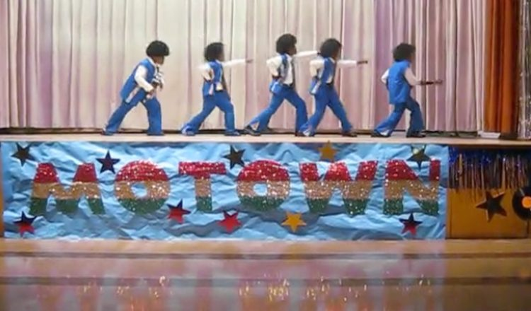 Students Perform Jackson 5 At Talent Show