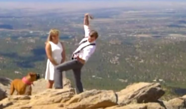 wife saved husband from falling off cliff - yawp