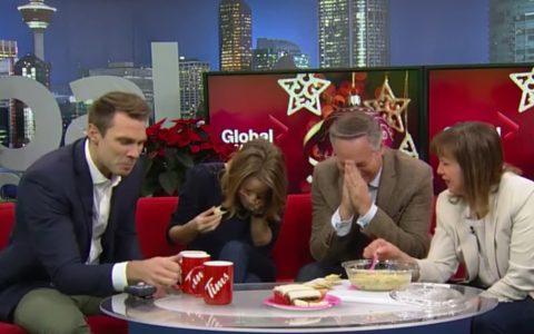 holiday artichoke dip goes terribly wrong news anchor