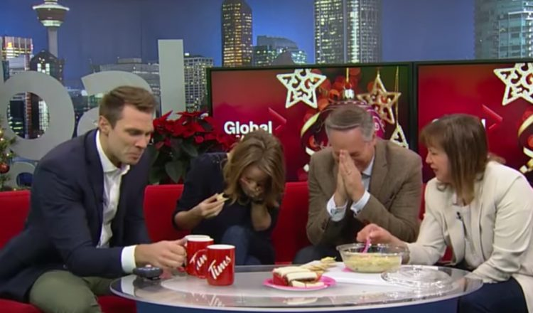 holiday artichoke dip goes terribly wrong news anchor