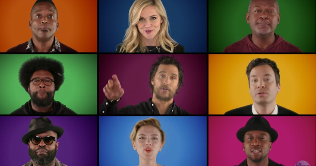 Jimmy Fallon, \'Sing\' Cast and Stars Sing Wonderful Christmas Time