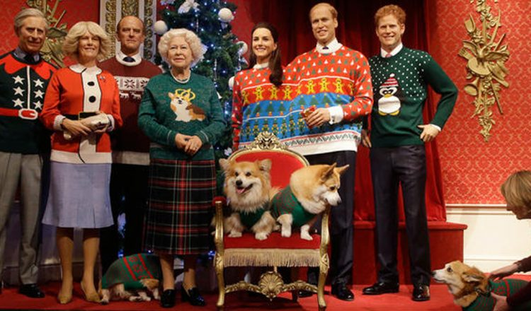 royals wear tacky christmas sweaters