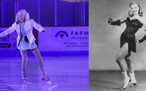 90-year-old skater Yvonne Dowlen