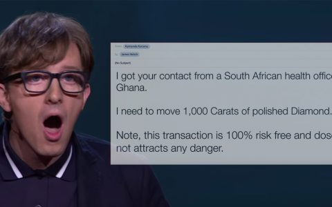 comedian james veitch takes on email scammers
