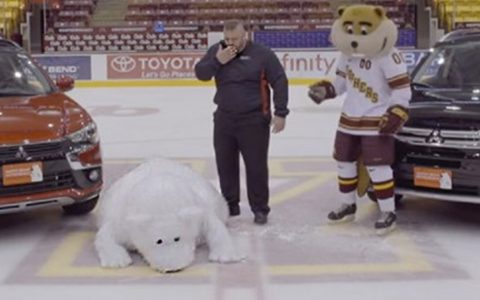 white bear outtakes commercial ice