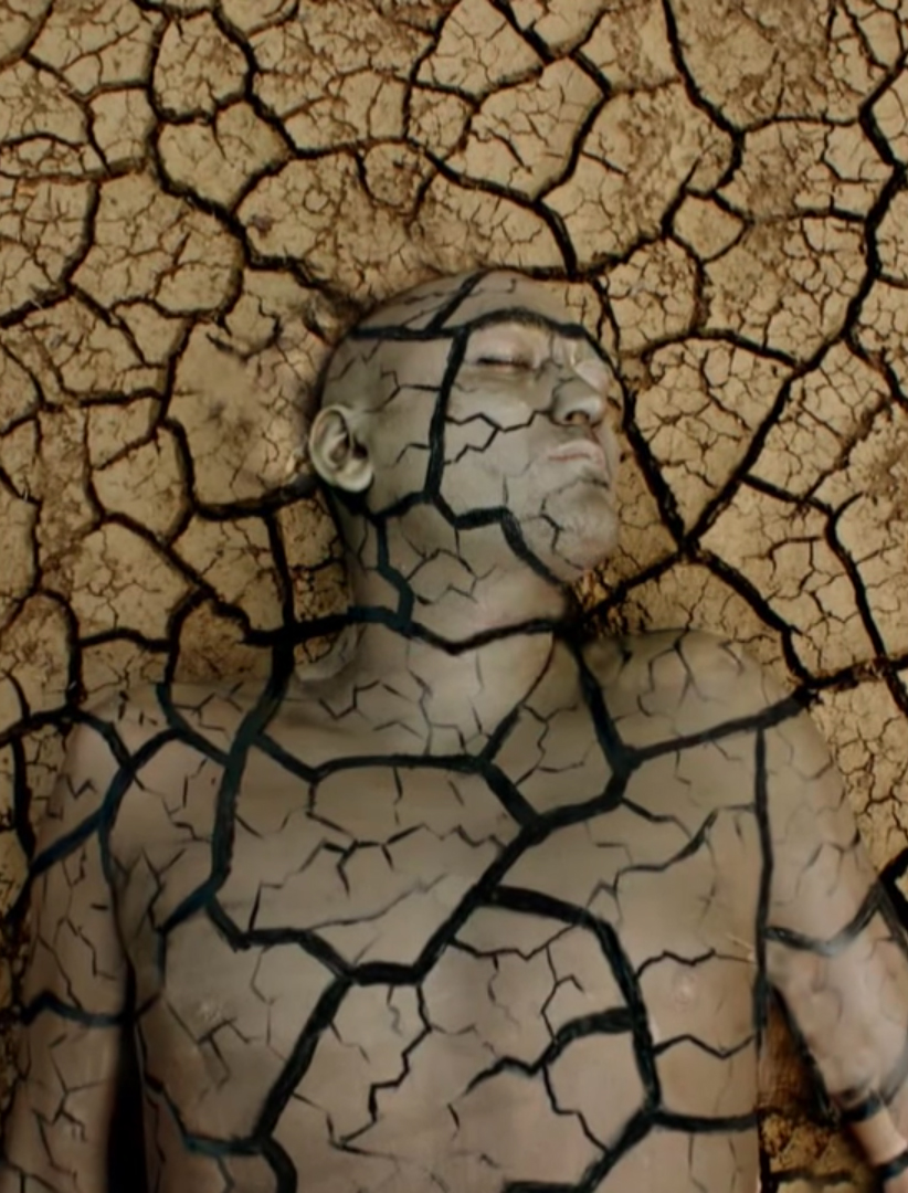 body paint artist Johannes Stötter -Stotter - cracked earth
