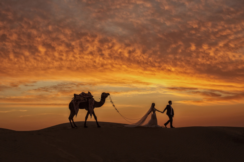 Mind-Blowingly Beautiful Wedding Photos _ camel _ everything inspirational