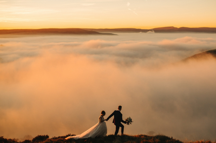 Mind-Blowingly Beautiful Wedding Photos _ clouds _ everything inspirational