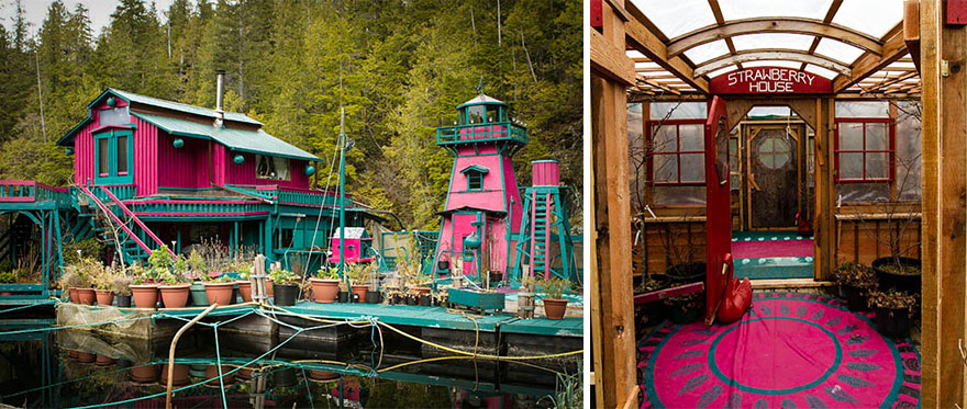 Incredible Floating Island Home Takes Artist Couple 20 Years To Build _ lighthouse _ everything inspirational