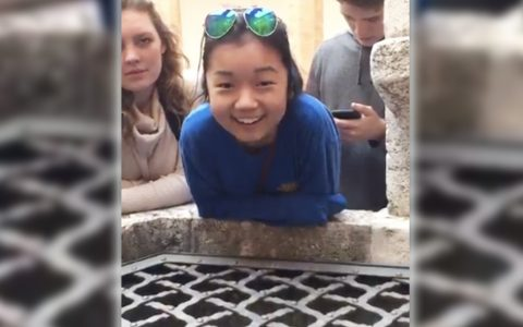 Girl Discovers Well Has Beautiful Echo And Begins Singing 'Hallelujah' _ everything inspirational