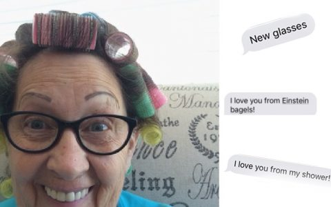 Adorable Grandma Sends Selfies _everything inspirational
