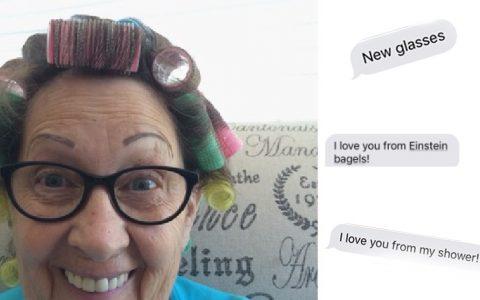 Adorable Grandma Sends Selfies _everything inspirational