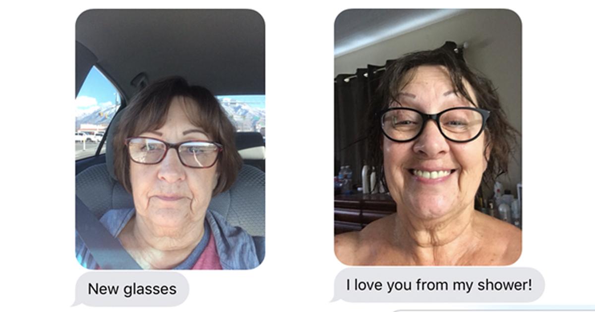 Adorable Grandma Sends Selfies _ shower _ everything inspirational