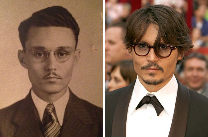 14 Photos of People Who Look Exactly Like Famous Celebrities _ Johnny Depp _ everything inspirational