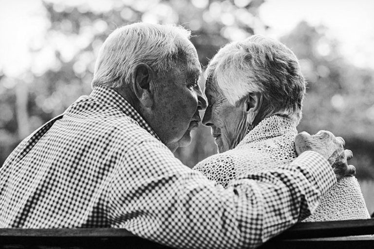 Photos of Couples Married 50 Years Shows What Love Really Looks Like _ Kiss _ Park _ all created