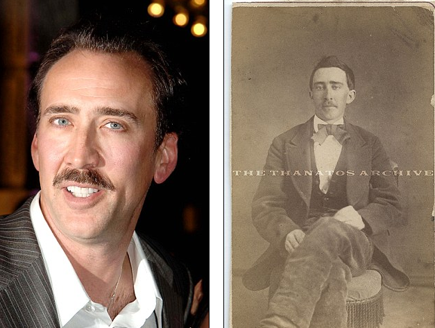14 Photos of People Who Look Exactly Like Famous Celebrities _ John Breckinridge _Nicholas Cage _ everything inspirational
