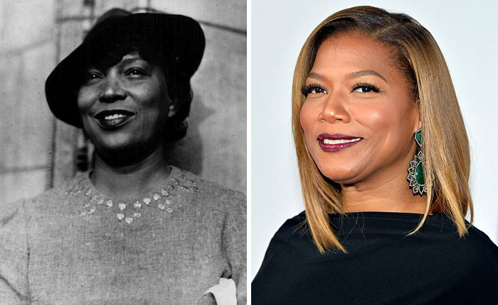 14 Photos of People Who Look Exactly Like Famous Celebrities _ Queen Latifah _ Hurston _ everything inspirational