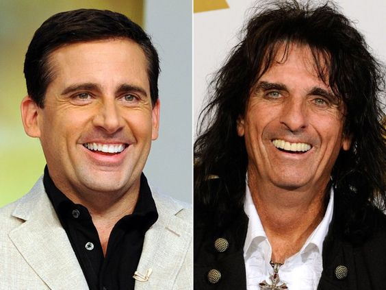14 Photos of People Who Look Exactly Like Famous Celebrities _ John Breckinridge _Steve Carell _ Alice Cooper _ everything inspirational