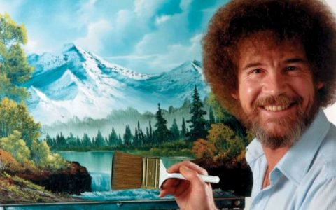 Before Painting Happy Trees, Bob Ross Vowed To Never Scream Again _ painter _ everything inspirational