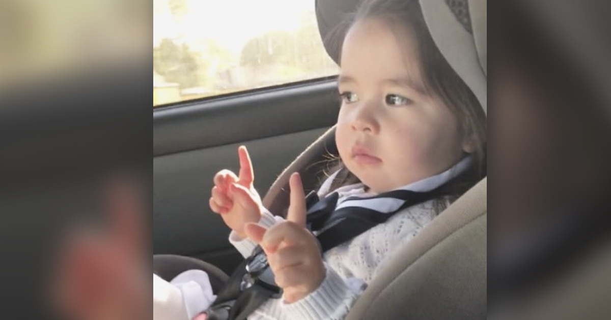 Adorable Toddler Girl Waiting For The Perfect Moment In Her Favorite Song Will Make You Smile _ Bruno Mars _ everything inspirational