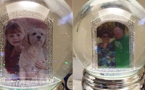 grandparents reunited with granddaughters gift left at airport _ snow globe_ everything inspirational