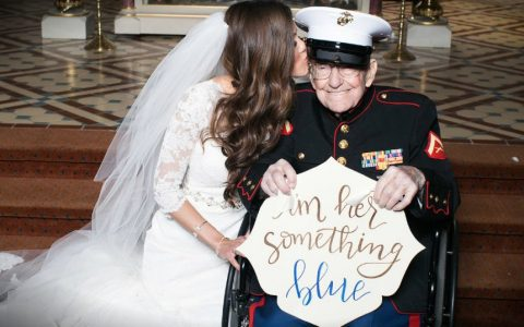 "Bride Makes Her 92-year-old Veteran Her ""Something Blue"" _ everything inspirational"