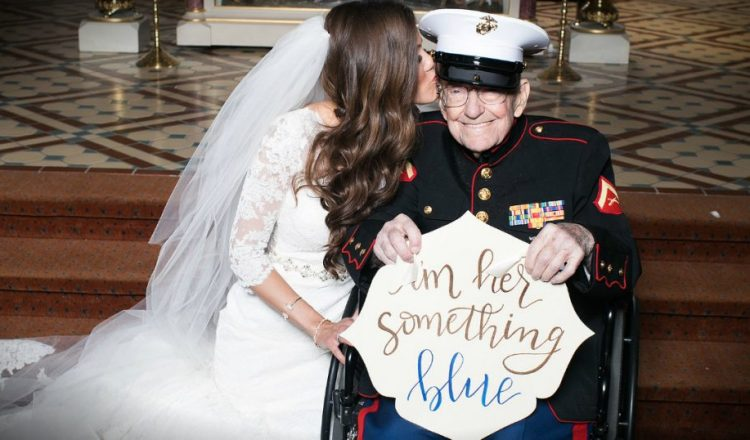 """Bride Makes Her 92-year-old Veteran Her """"Something Blue"""" _ everything inspirational"""