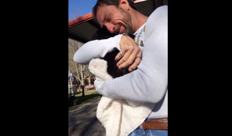 Dad Gets Surprise Puppy In His Mailbox And He Can't Stop Crying _ everything inspirational