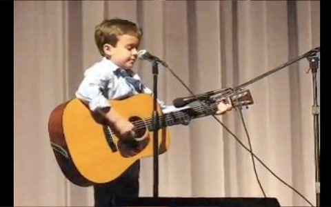 7 Year Old Boy Sings Johnny Cash Song And Amazes The Audience _ everything inspirational