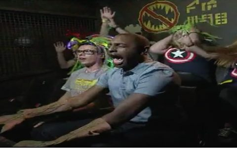 Reporter's Reaction To Amusement Park Ride Is Hysterical _ Cory James _ Everything Inspirational