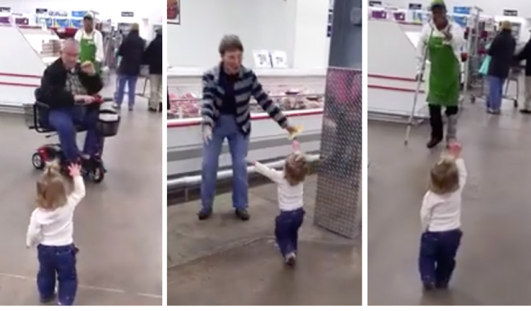 everthing inspirational- toddler spreading love _ sam's club