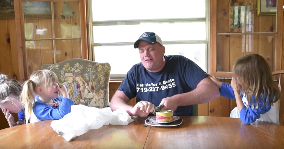 Dad does 39 stinky fish challenge 39 to win family prizes for Stinky fish in a can