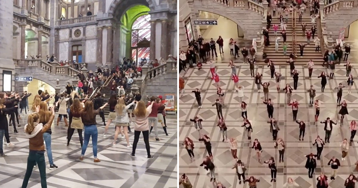 Train Station Turns Into Epic 'Grease' Flash Mob _ everything inspirational