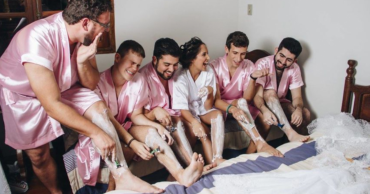 Invited Guys for Her Bridal Photos _ everything inspirational