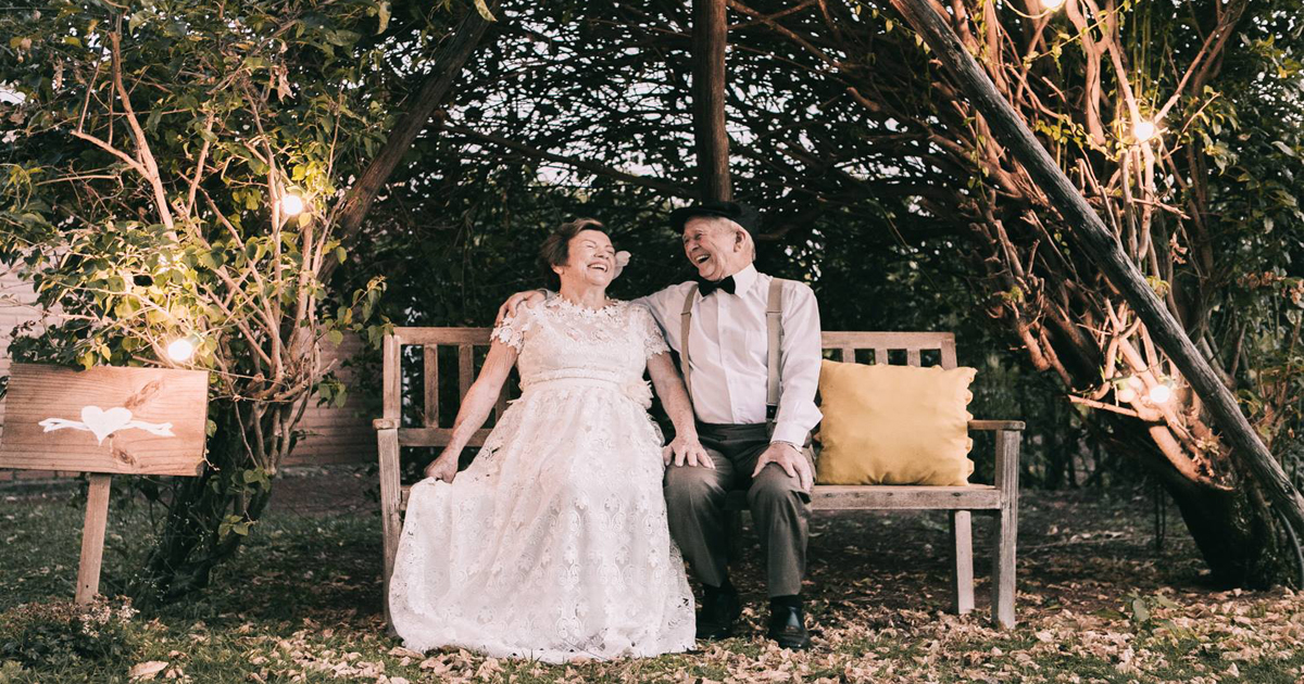 Couple Married 60 Years But Never Had Wedding Photos, Until Now _ everything inspirational