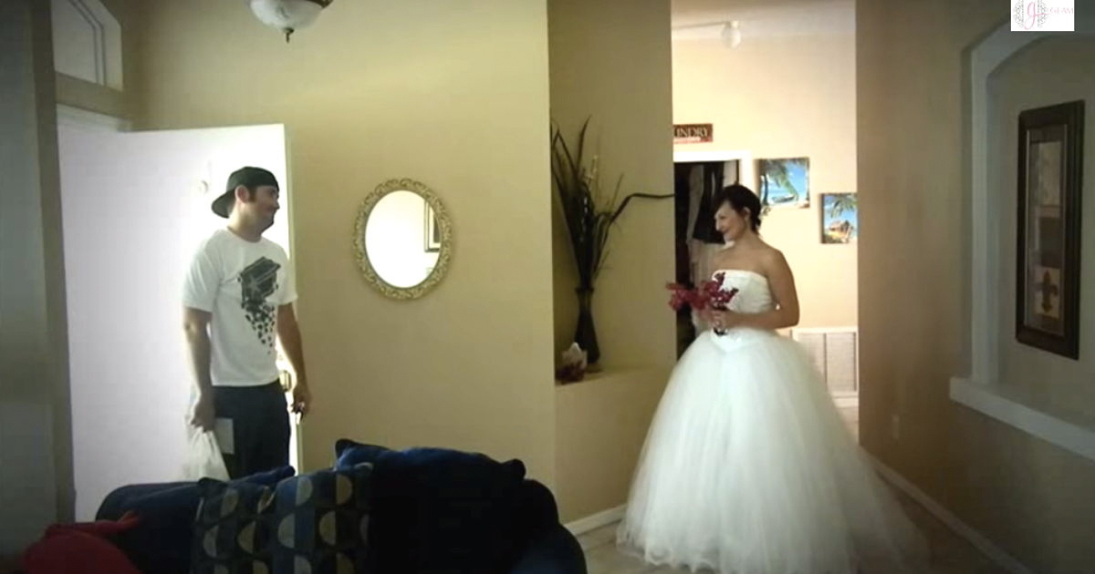 Bride Surprises Husband On Their 7th Wedding Anniversary _ everything inspirational