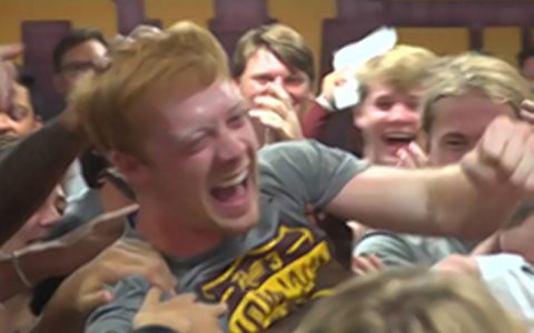 Football Player Who Loves Helping Others Gets Surprise Scholarship_ everything inspirational