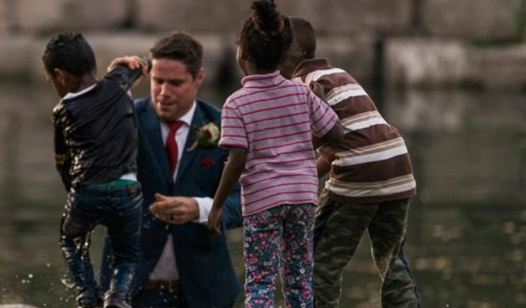 Groom Ran from Wedding Photo Shoot to Jump in Water to Save Child _ clayton brooks _ everything inspirational
