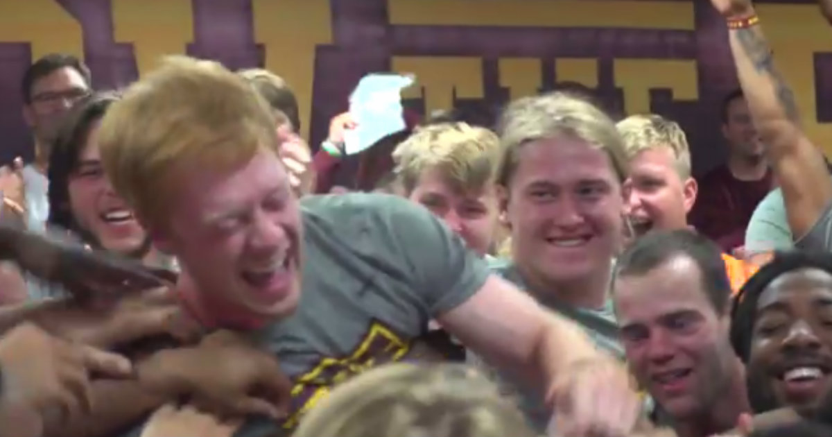 Football Player Who Loves Helping Others Gets Surprise Scholarship _ everything inspirational
