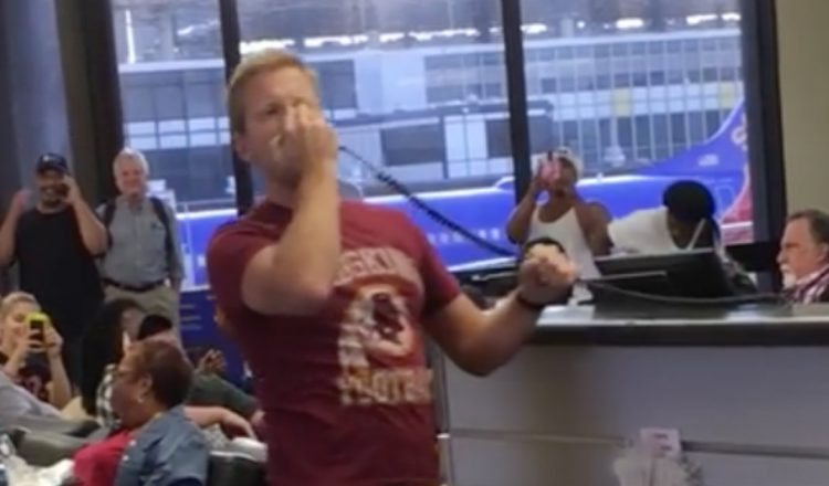 Passenger Sings Loud Over Intercom in Airport While Waiting for Flight_ everything inspirational